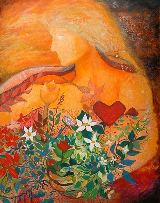 Pintura Goldmundo - el sol