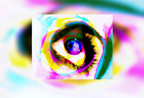 Imagen digital de un ojo creado en 3D
