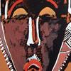 Ilustración de unas máscaras baulé