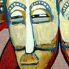 Ilustración de Máscaras Semufo