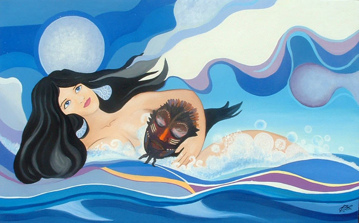 Autorretrato en el mar  de Cristina Alejos