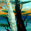 Painting - The Poplar and the Baobab