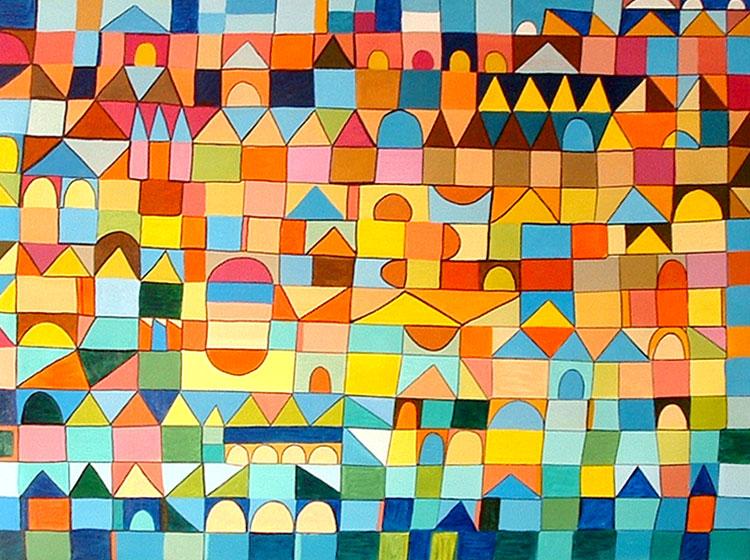 Cuadro abstracto pintura y artistas for Cuadros con formas geometricas