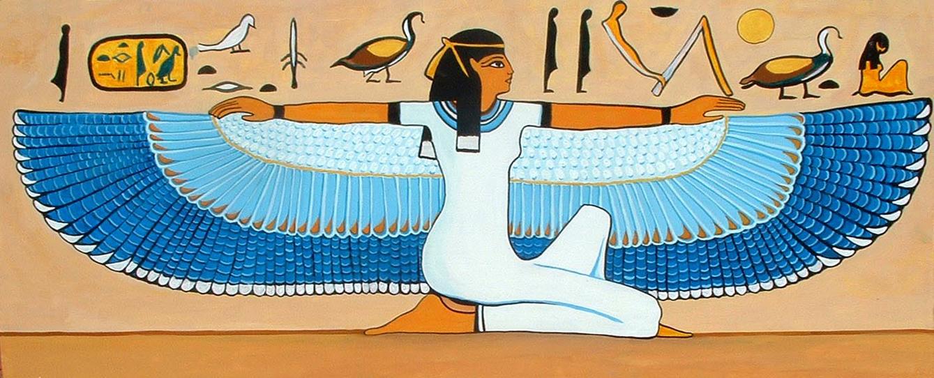 Arte Egipcio - Mujer con alas de  Cristina Alejos