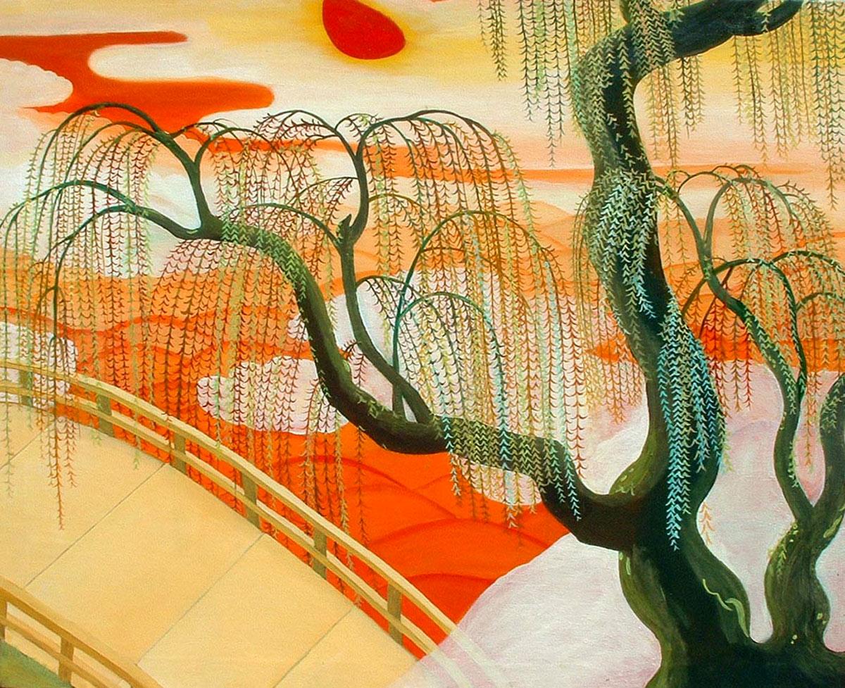 Pintura Árbol japonés de Cristina Alejos
