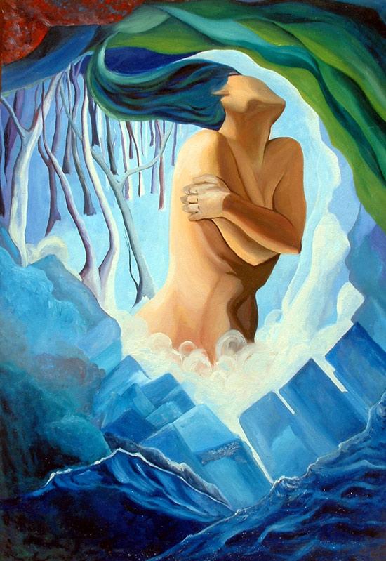 Mundos Azules, pintura de Cristina Alejos