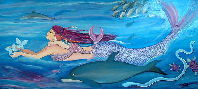 Pintura de Sirenas