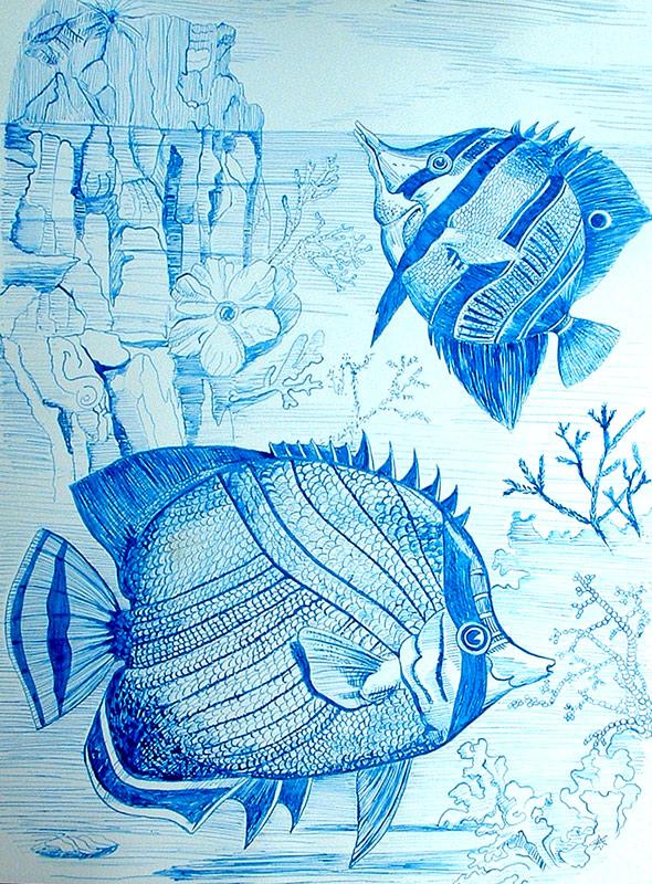 Peces pintura y artistas - Cuadros con peces ...