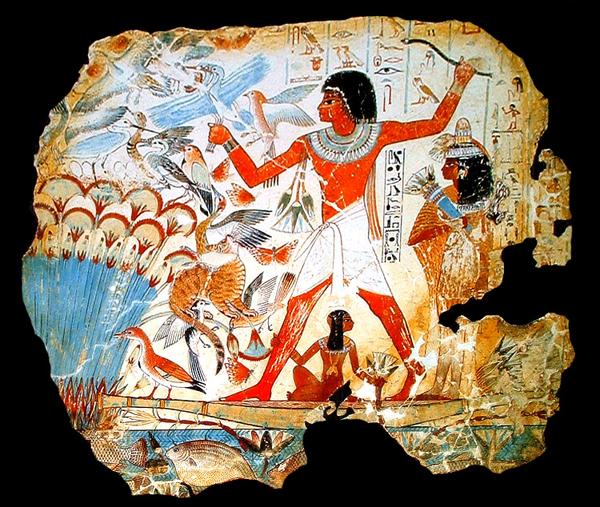 La caza. Arte Egipcio