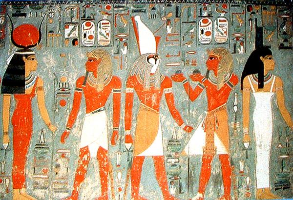 Imagen en la Tumba de Horomheb. Arte egipcio