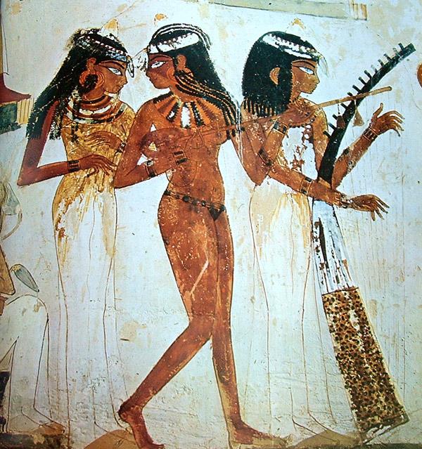 Nakht tomb. Egyptian Art Style