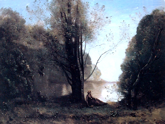 La soledad, pintura de Camille Corot