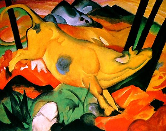 La vaca amarilla de Franz Marc