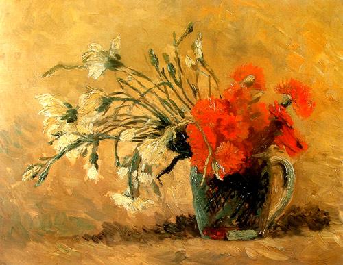 Jarrón con claveles de Van Gogh