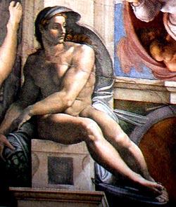 Desnudos masculino de Miguel Ángel Buonarroti