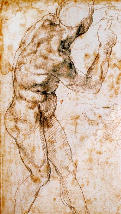 desnudo de Miguel Ángel Buonarroti