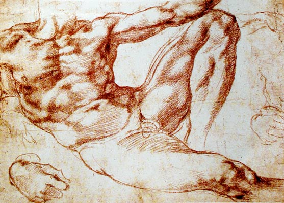 Estudio para la Creación de Adán de Miguel Ángel Buonarroti