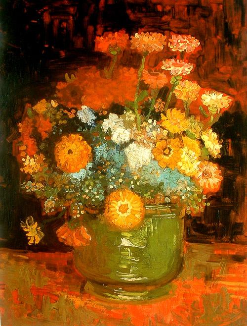 Composición de flores de Van Gogh