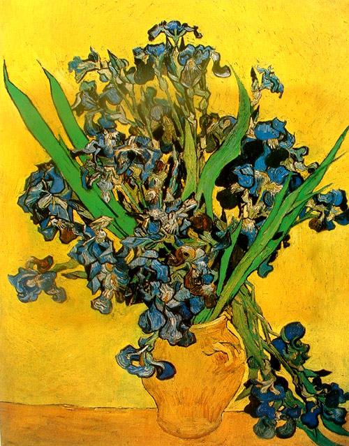 Van Gogh´s Blue flowers