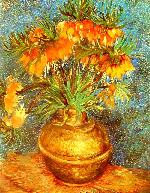 Jarrón dorado de Van Gogh