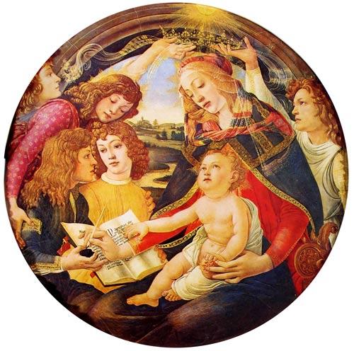La virgen del Magnificat de Botticelli