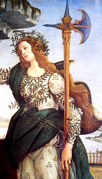 Palas Atenea de Botticelli
