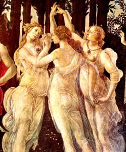 Alegoría de la primavera de Botticelli