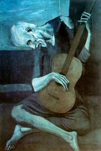 Guitarrista epoca azul de Picasso