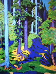 inside-the-forest-1937- Davos Ernst Ludwig Kirchner