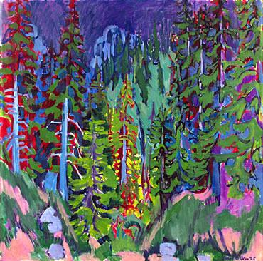 Árboles de Davos Ernst Ludwig Kirchner