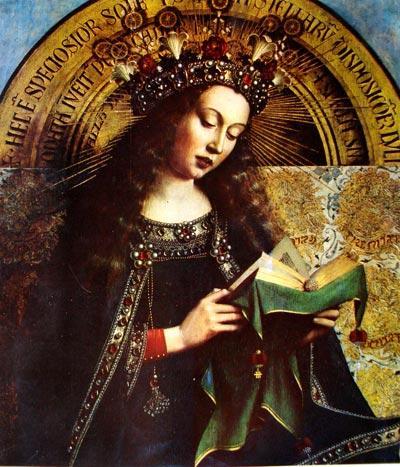 Pintura al óleo de Van Eyck