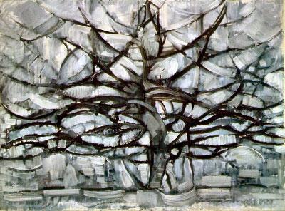 Árbol gris de Mondrian