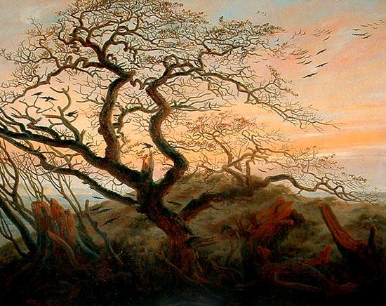 Árbol de los cuervos de Caspar David Friedrich