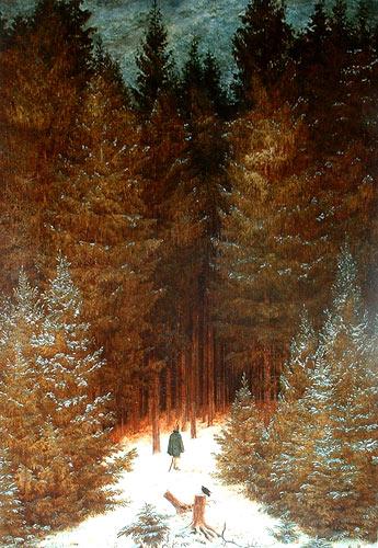 Cazador en el bosque de Friedrich