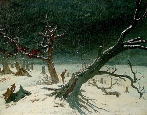 Paisaje de invierno de Caspar David Friedrich