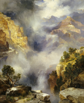 Mist In The Canyon.   Thomas Moran