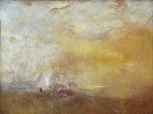 Atardecer con monstruo en el mar de Turner