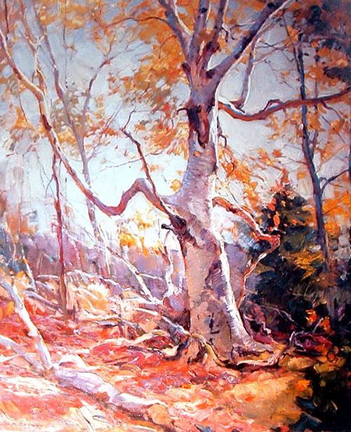 Pintura de un árbol de Emile Gruppé
