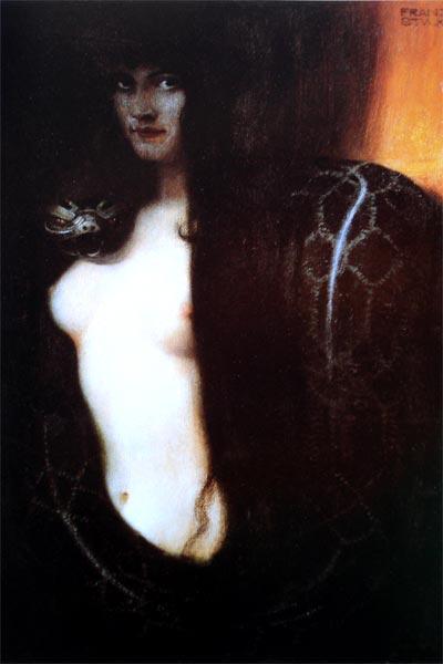 Pintura simbolista Pecado