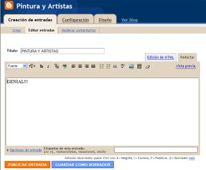Editor de Blogger