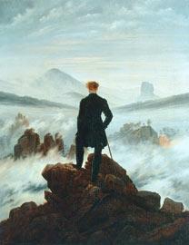 Caminante sobre la niebla de Caspar David Friedrich