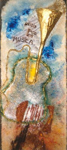 Pintura Unidos por la musica