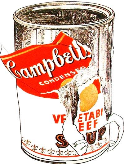 Lata de sopa Campbell  de Warhol