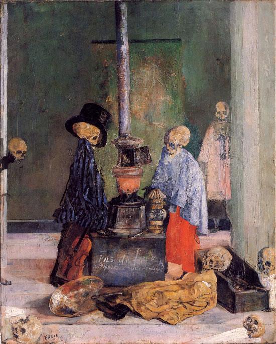 Esqueletos y enmascarados de Ensor