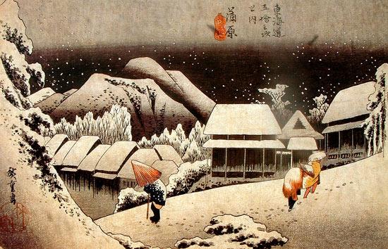 Invierno pintura japonesa
