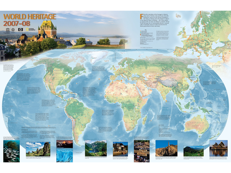 Mapa de la unesco World Heritage