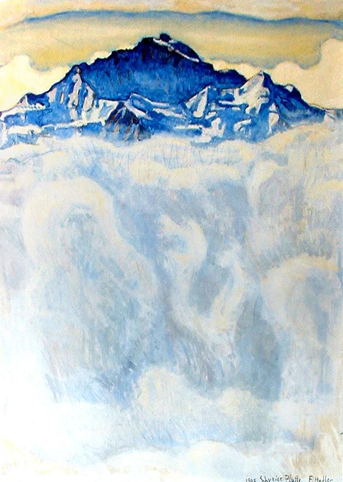 Pintura de Hodler - montaña