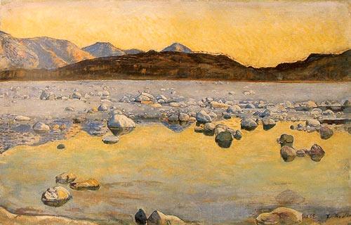 Pintura de Hodler - rio