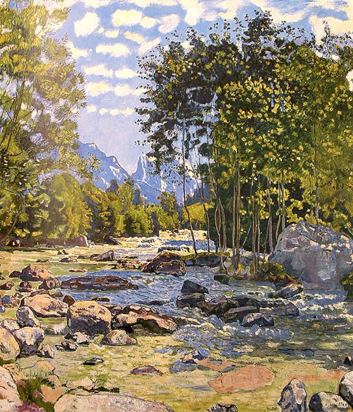 Pintura de Hodler - Rio / River