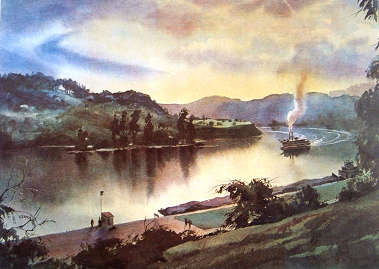 Watercolor by John Pike